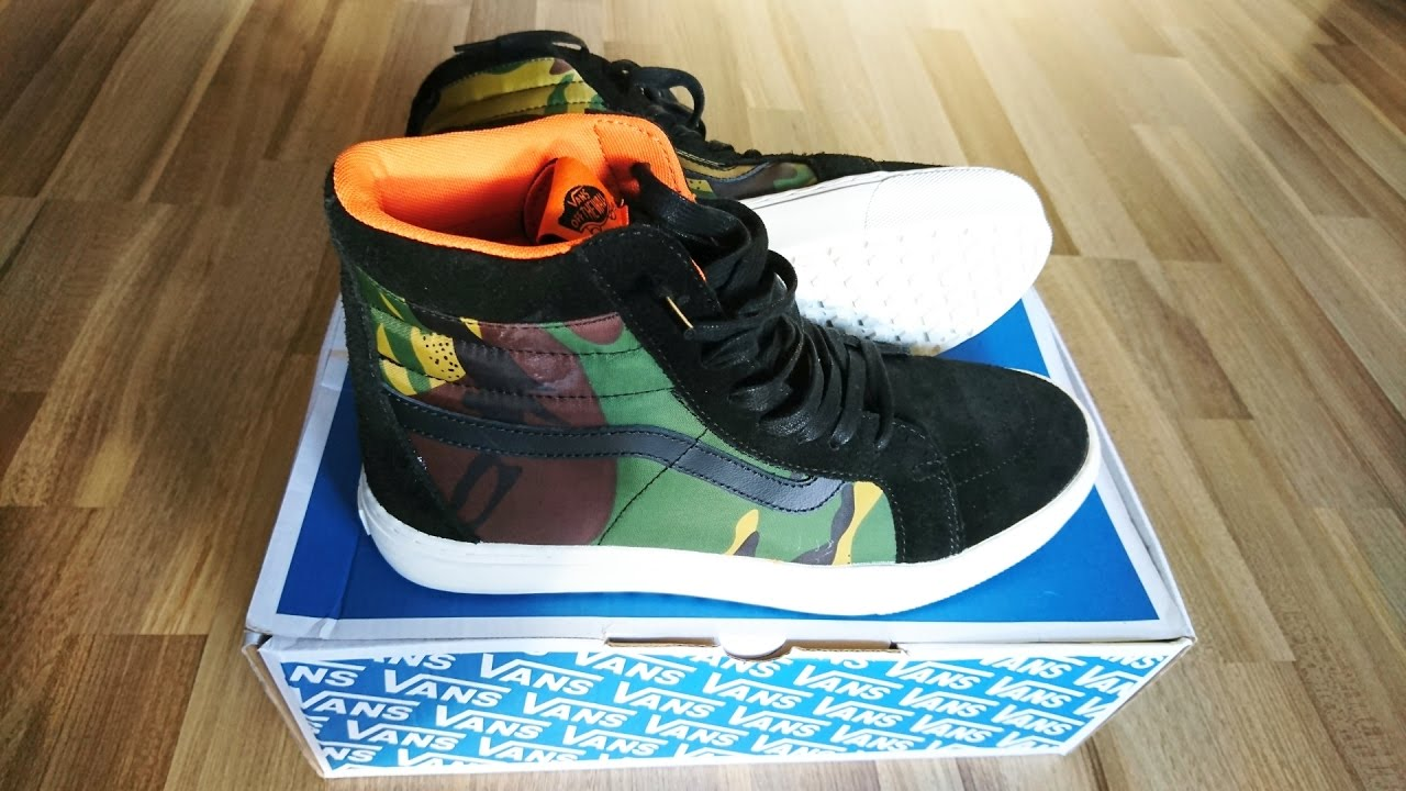 924060c410 Vans vault X london undercover sk8-hi MTE cup lx unboxing   on feet ...