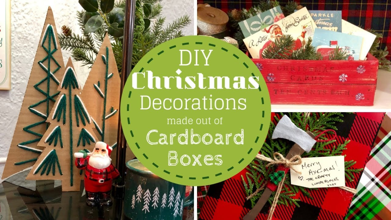 Diy Christmas Ornaments As Gifts.Diy Christmas Decorations All Made Out Of Cardboard Boxes Christmas Gifts Ornaments