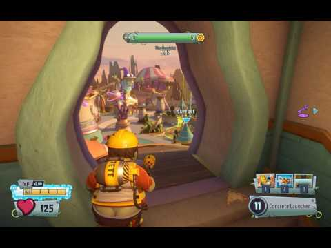 PvzGW2 - parkour locations: seeds of time 1st garden with engineer