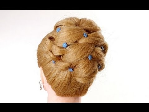Wedding prom hairstyles for long hair. Updo hairstyles
