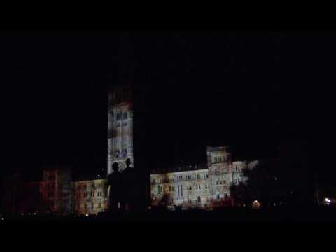 Northern Lights Sound and Light Show at Parliament Hill, Ottawa.