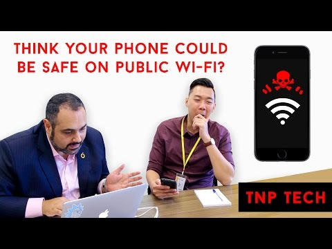What happens when you connect to an unsecured public wi-fi network?