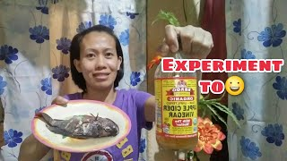 Experiment tayu!Paksiw na Tilapia with Apple Cider vinegar!Anung lasa?