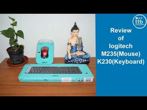 Best Budget Wireless  Keyboard and Mouse Review ( Logitech K230 Keyboard  + M230  Mouse)( In Hindi)