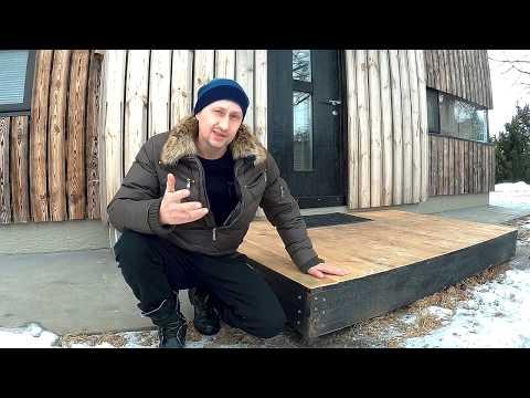 Как построить крыльцо с навесом к дому своими руками из дерева видео