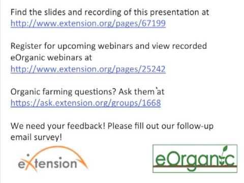 National Organic Program Update Webinar - Part 2