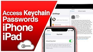 How To Access iCloud Keychain Password iPhone & iPad (iOS)