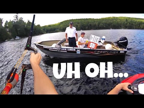 CRAZY JET SKI BOW BATTLE - SHUT DOWN BY COPS!!