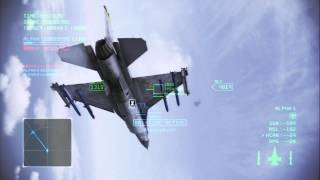 Ace Combat Infinity TDM- Two F-16's versus a Typhoon and F-22A