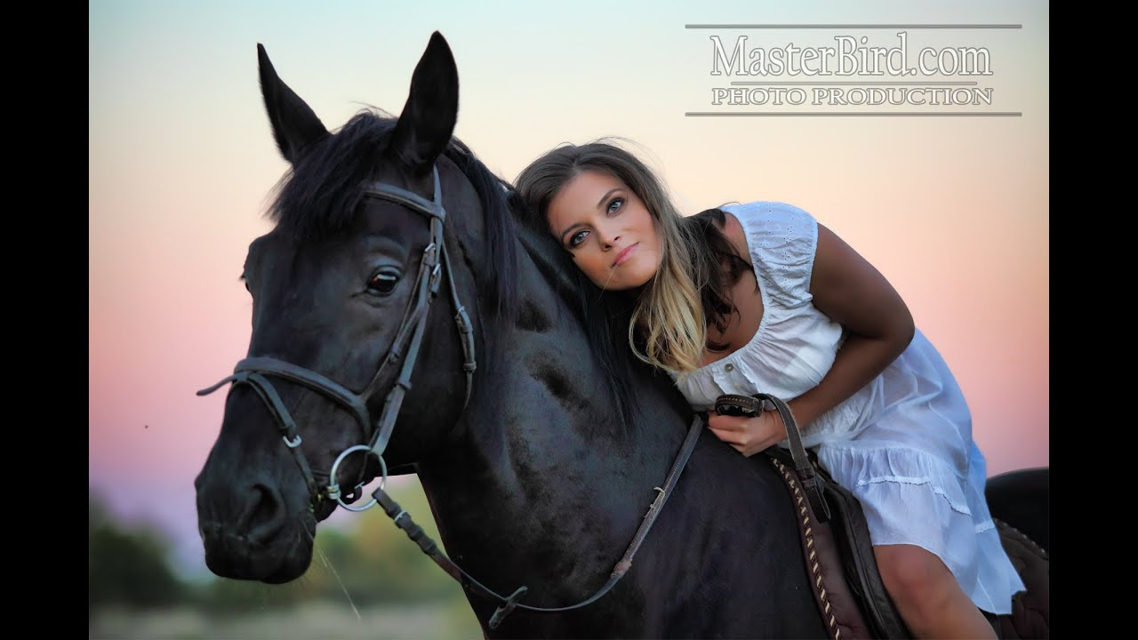 Beautiful Girl and a Horse - YouTube
