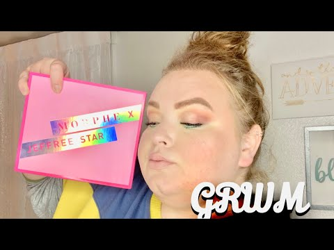 Trying the morphe x jeffree star palette GRWM thumbnail