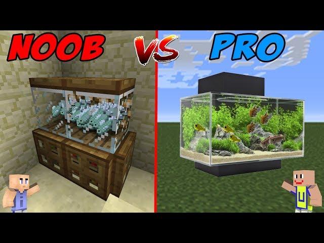 MINECRAFT: NOOB VS PRO - Aquarium Unik Berfaedah