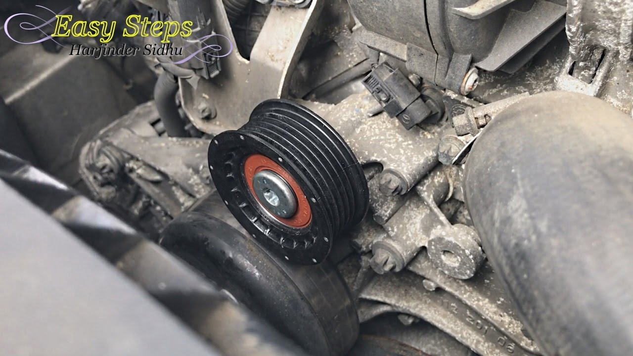 How to Change Idler Pulley on Mercedes E500   W211