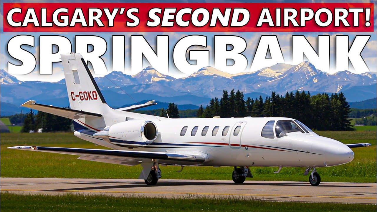 Calgary's SECOND Airport! Plane Spotting at Springbank (CYBW)