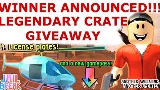 Roblox Jailbreak Giveaway! Winner Announced!!! Also 100 SUBSCRIBERS!
