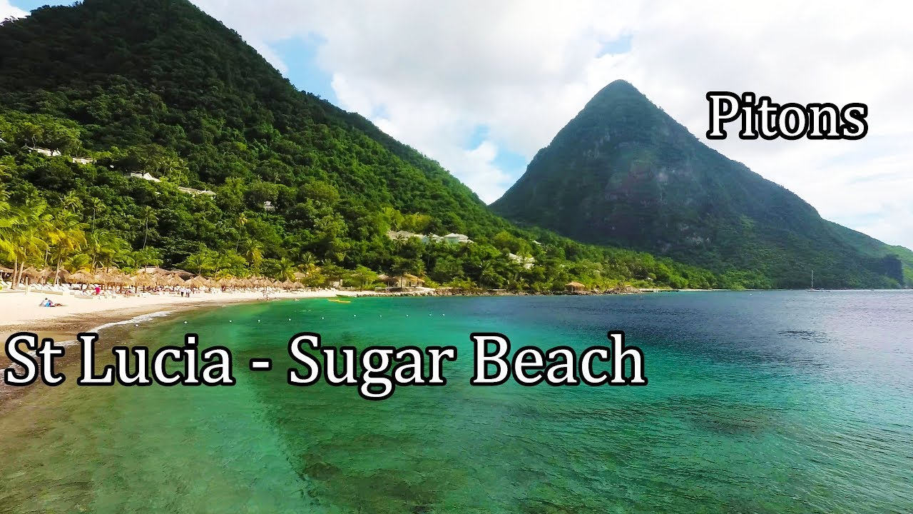 St Lucia 2017 4k Walking On Sugar Beach Between The Pitons