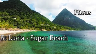St Lucia 2017 (4K) - Walking on Sugar Beach - Between the Pitons