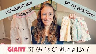 Kids Consignment Haul | Complete 3T Girls Wardrobe