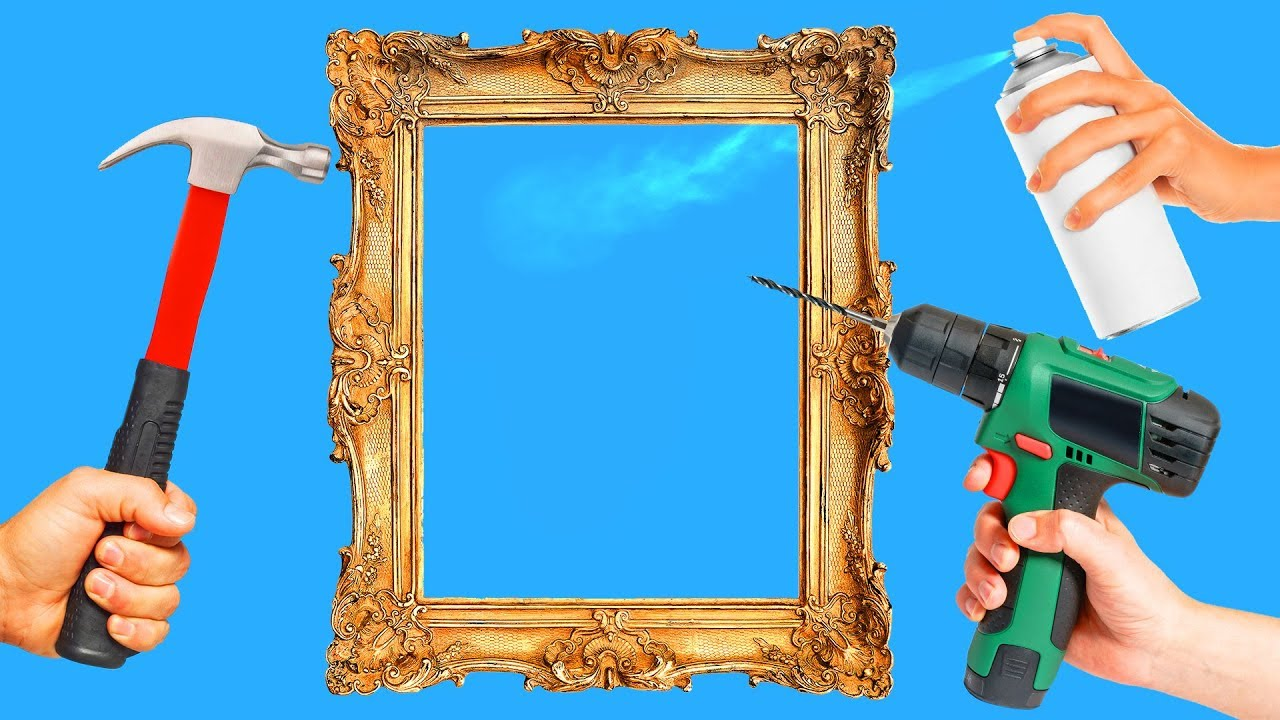 18 INTERESTING DIY PICTURE FRAME IDEAS - YouTube