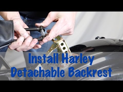 Install Detachable Rider Backrest Hardware on Harley Davidson | Biker Podcast