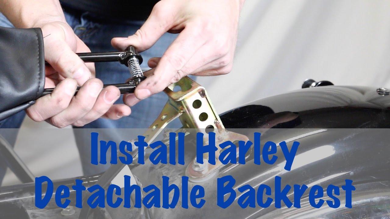 Install Detachable Rider Backrest Hardware On Harley