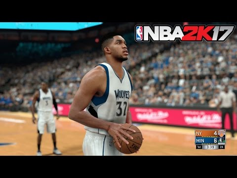 NBA 2K17 (PS4) Wolves vs Knicks Gameplay