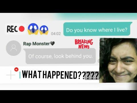 BTS(RM) Texted me!(The Mydol App)