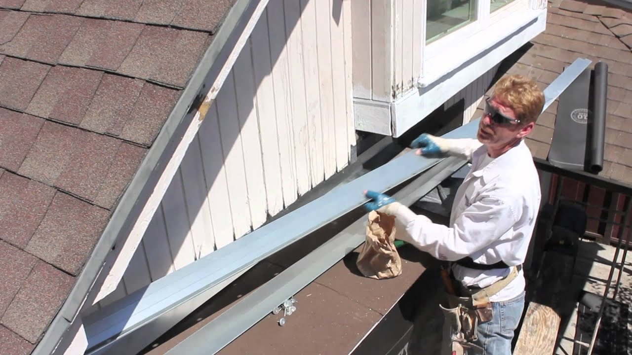 installing roof to wall flashing youtube - How To Install Roof Flashing