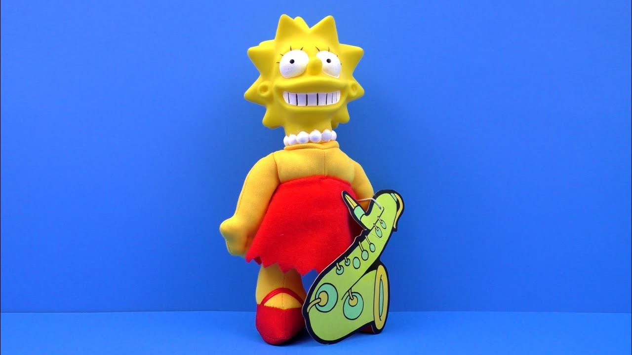 1990 The Simpsons Burger King Lisa Simpson Plush Doll
