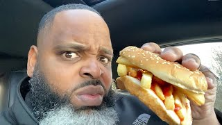 Burger King French Fry Sandwich Review | THIS IS TRENDING???
