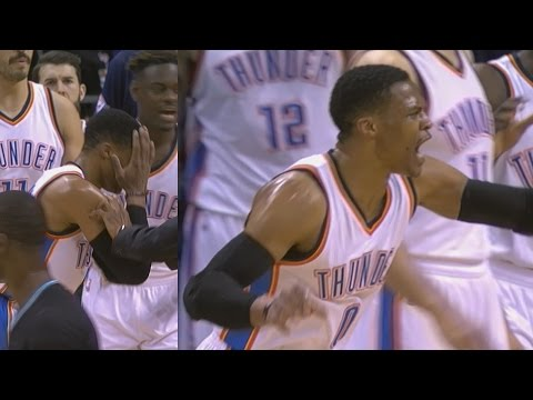 Russell Westbrook Hits Referee in the Head With Ball! Hornets vs Thunder