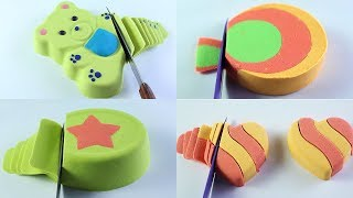 Very Satisfying  Kinetic Sand Cutting  ASMR Compilation Video Clips 1 Hour Oddly Relaxing