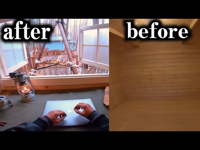 何もない山小屋で一週間、家具を作り続けた結果…!!!