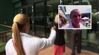 Dominika Cibulkova's Tour of Wimbledon & Autograph Session 2012