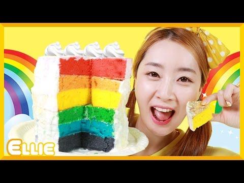 Ellie's' Rainbow Cake '' Make   CarrieAndBooks