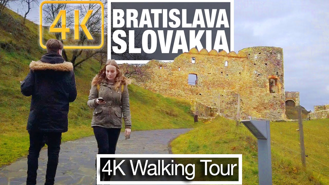 4K City Walks: Bratislava Slovakia - Historic Devin Castle - Virtual Walk Treadmill City Guided Tour