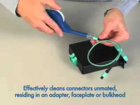 USCONEC MTP and MPO Bulkhead Cleaner Instruction Video