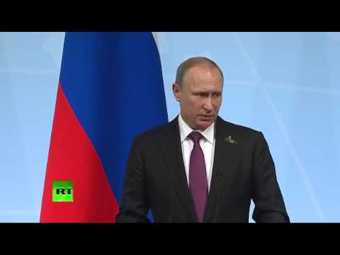 RT   Putin holds press conference at G20 in Hamburg STREAMED LIVE