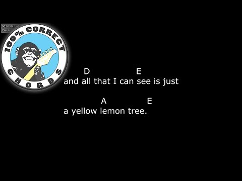 Fool's Garden - Lemon Tree - Chords & Lyrics