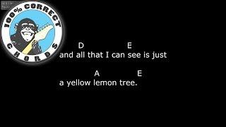 Fool's Garden - Lemon Tree - Chords & Lyrics