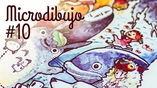 Studio Ghibli - Totoro, Ponyo, Mononoke, Chihiro, Castillo Ambulante - Microdibujo 10