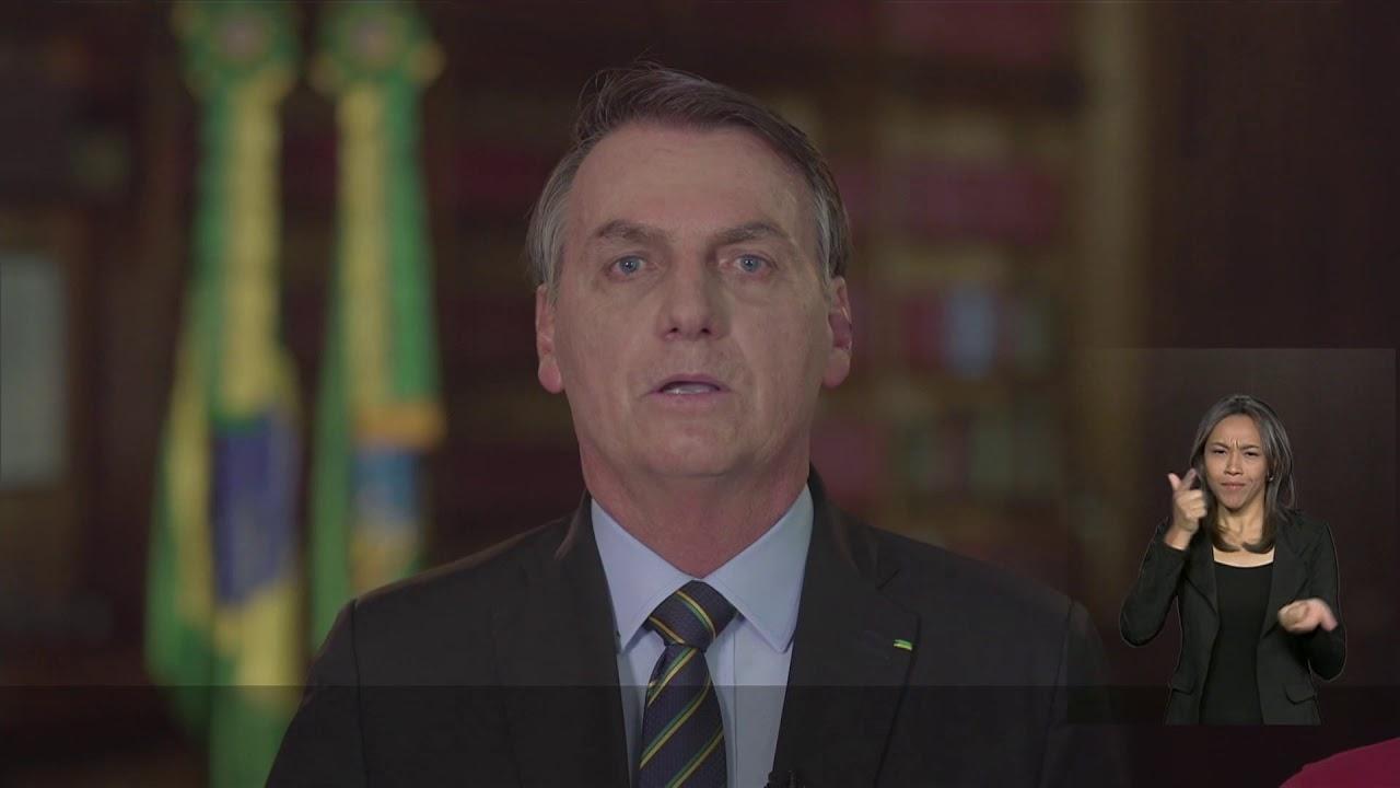 Pronunciamento oficial de final de ano do presidente Jair Bolsonaro