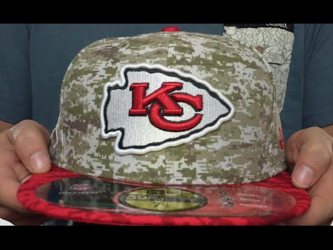 Chiefs  2015 SALUTE-TO-SERVICE  Desert-Red Fitted Hat by New Era ... e05a9e8040f