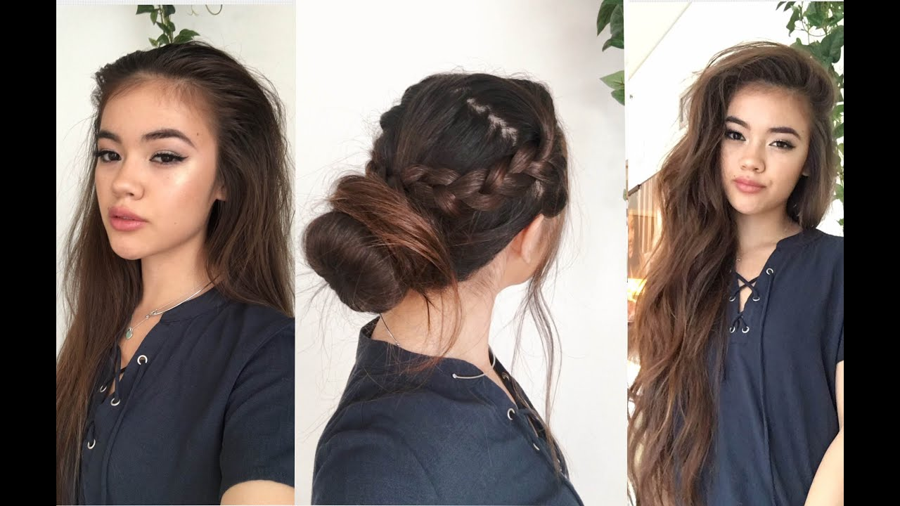5 Hairstyles For School: Viviannnv - YouTube