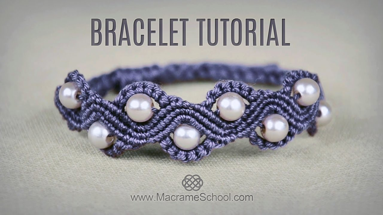 Wave Bracelet With Beads Tutorial