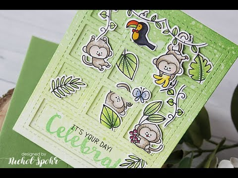 Waffle Flower  Jungle BDay Card