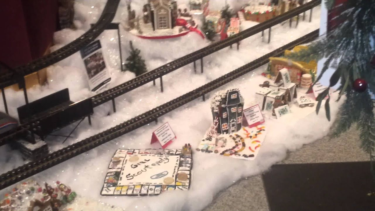 gingerbread house and train exhibit at ppg place 2 youtube