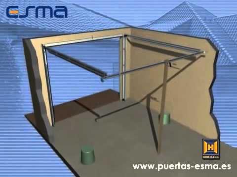 Instalaci n puerta de garaje seccional puertas esma for Como instalar un motor de puerta de garaje