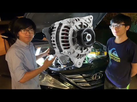 How To Re-Install Alternator Hyundai Sonata 2009-2014 | Aiman's DIY Auto Repair – Remove Replace Fix