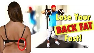 Lose Your Back Fat in 1 Week | 4 Back Fat Transformation Weight Loss Workout | Dumbbells Exercise